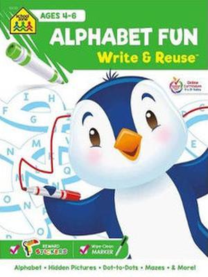 Alphabet fun write & reuse workbook
