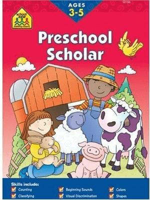 Preschool Scholar skill areas include Ages 3-5