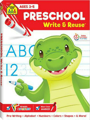 Preschool write & reuse workbook NEW
