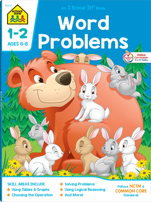 Word Problems 1-2 ages 6-8 an i know it WB
