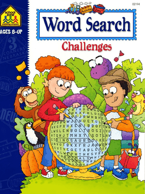 Word Search Challenges Activity Zone Workbook Age