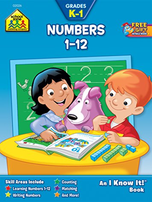 Numbers 1 to 12 Workbook Grades K-1