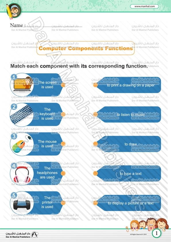 Computer Components Functins Computer Worksheets